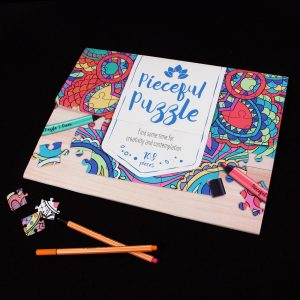 Pieceful Puzzle - a colouring-in jigsaw puzzle